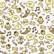 Royalty-Free Stock Vector Image: Cute romantic hand drawn seamless pattern