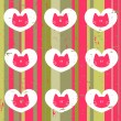 Romantic seamless pattern with cats - Imagen vectorial