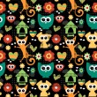 Royalty-Free Stock Vector Image: Cute seamless pattern with funny animals