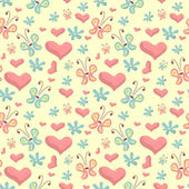 Cute seamless background — Vector de stock