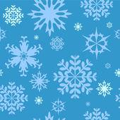 бесшовный зимний фон со снежинками — Cтоковый вектор