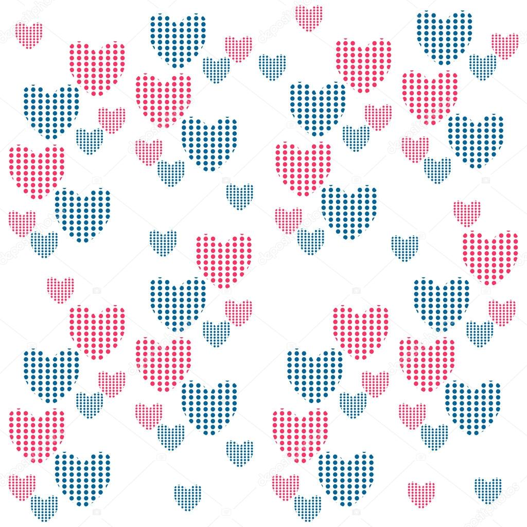 Cute seamless background with hearts — Stock Vector #14667573