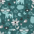 Cute seamless pattern design — Stock Vector