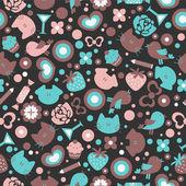 Sweet seamless pattern design — Stock Vector