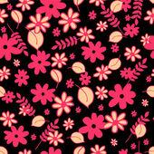 Joli modèle sans couture avec les éléments floraux — Vecteur