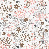 Seamless pattern with floral elements — Stock Vector