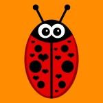 Cute ladybird romantic illustration — Stock Vector