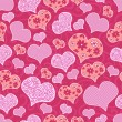 Romantic seamless pattern with hearts — Stock Vector #15740865