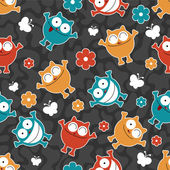 Seamless pattern with funny cats — Stock Vector