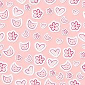Cute feminine seamless pattern — Stock Vector