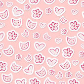 Cute feminine seamless pattern — Stock Vector