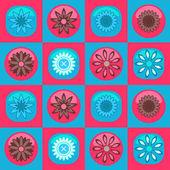 Krásný vzor bezešvé s květinami — Stock vektor