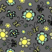 Pretty floral seamless pattern design — Stockvektor