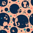 Cute childish seamless pattern design — Image vectorielle