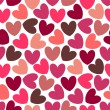 Beautiful romantic seamless pattern with hearts - Stockvectorbeeld
