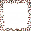 Frame with cute hearts — Stock Vector