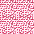 Beautiful romantic seamless pattern with hearts — Stock Vector