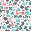 Sweet seamless pattern design — Stock Vector
