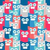 Kleurrijke naadloze patroon met grappige katten — Stockvector