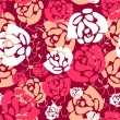 Pink seamless pattern with roses — Stok Vektör