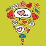 Cute romantic illustration — Stock Vector
