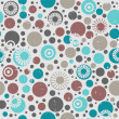 Abstract seamless pattern with circles — Stock Vector #18718479