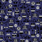 Funny seamless pattern with criminals — Stock vektor