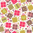 Seamless pattern with gift boxes — Stock Vector