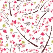 Cute seamless pattern with branches — Stock Vector #18976073