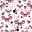 Stock Vector: Seamless pattern with pink bows