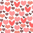 Romantic seamless pattern with hearts - Stock Vector