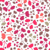 Seamless pattern with pretty flowers — Vecteur