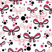 Seamless mönster med rosa rosetter — Stockvektor
