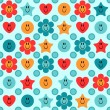 Cute childish seamless pattern design — Stock Vector #20031215