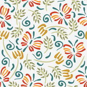 Beautiful floral seamless pattern design — Stockvektor