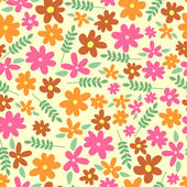 Seamless pattern with sweet flowers — Stock Vector