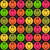 Seamless pattern with smiling faces — Stock Vector
