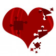 Heart puzzle romantic illustration — Stock Vector #20093337