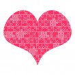 Heart puzzle romantic illustration — Stock Vector