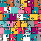 Colorful puzzle seamless pattern — Stock Vector