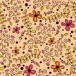 Cute bright floral seamless pattern — Stock Vector