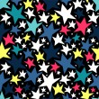 Seamless pattern with colorful stars — Stock Vector
