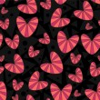 Romantic seamless pattern with hearts - Vettoriali Stock 