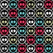 Seamless pattern with human skulls - Imagen vectorial