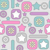 Cute childish seamless pattern design — Stock Vector
