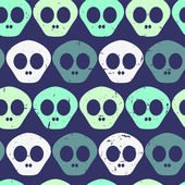 Seamless pattern with human skulls — Stock Vector