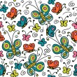 Royalty-Free Stock Vector Image: Seamless pattern with colorful butterflies