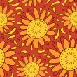 Sunny decorative seamless pattern design - Stock Vector