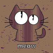 Cute kitty seamless texture illustration — Stock Vector