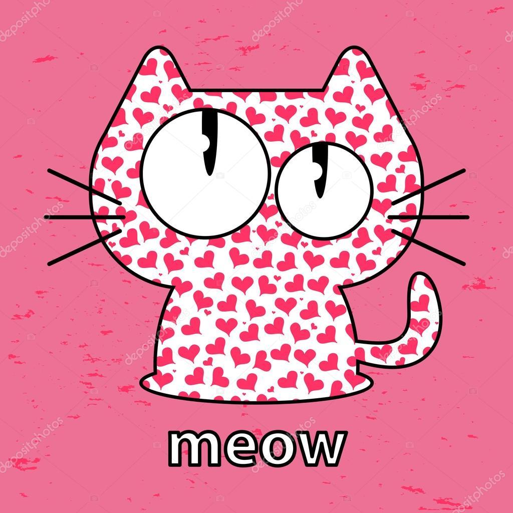 可爱的小猫,无缝纹理图